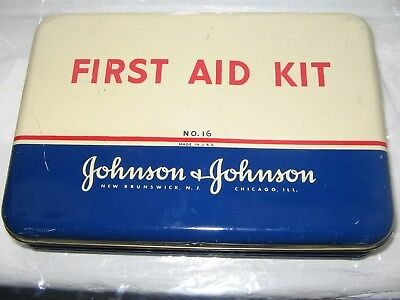 Johnson & Johnson First Aid Kit No. 16 (lovely container)