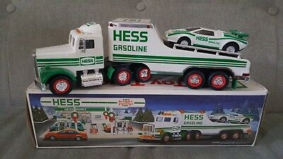 Vintage 1991 Hess Firetruck And Racer Toy