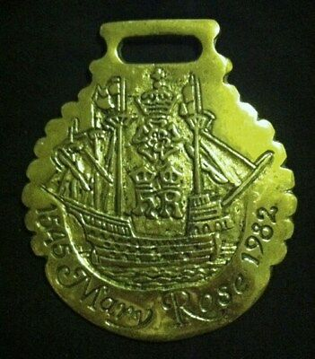 Oversized Horse Brass 1545 MARY ROSE 1982 BRITISH WARSHIP by JEE WOW YOUR WALLS