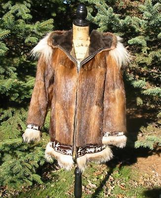 Gorgeous Fur Alaska Parka Eskimo Coat Jacket Stunning Xs David Green Vintage