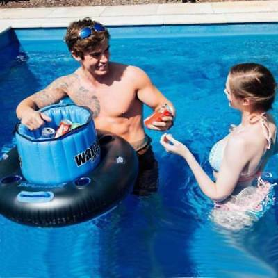 Floating Pool Party Drinks Tub Beer Soft Drink Can Holder Chiller Cooler Ice Sna