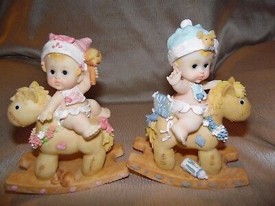 """TWD DESIGNS Collection  Boy Or Girl on Rocking Horse """" I have 2~boy's & 2~girls"""