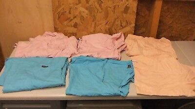 LOT OF3 WOMENS SCRUB sets TOPS AND BOTTOMS SIZES L AND XL DIFFERENT BRANDS