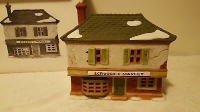"Dept 56 Heritage Village Collection  ""Scrooge and Marley Counting House"" #6500-5"