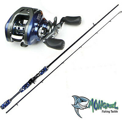 New Baitcaster Rod & Reel Combo reel great for kayak fishing, RH Bass Loomis