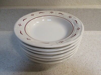Longaberger - Woven Traditions-Traditional Red - 6 Soup Bowls