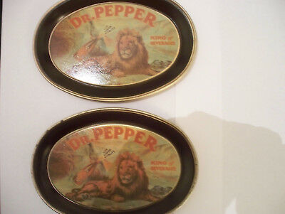 """DR PEPPER (pair) 6"""" King of Beverages Coasters"""