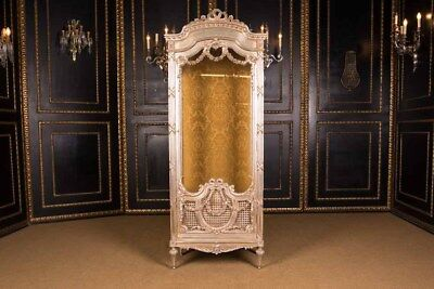 French Cabinet with Garlands in the Louis Seize Style poliment Silver Plated