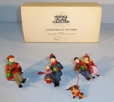 Dept 56 ~ Heritage Village ~ Christmas as the Park ~ 5866-1 ~ Set of 3 ~ MIB