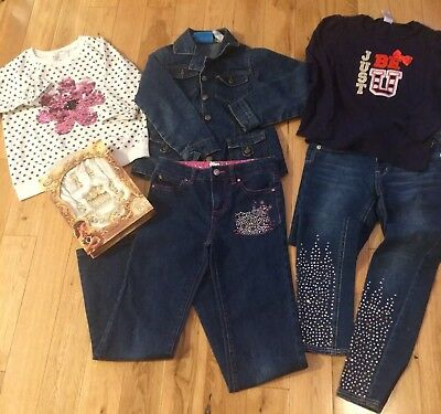 Lot Of 5 Girls Jeans Pants Tops Justice Gymboree  Hello kitty Size 6 🌲EXcellent