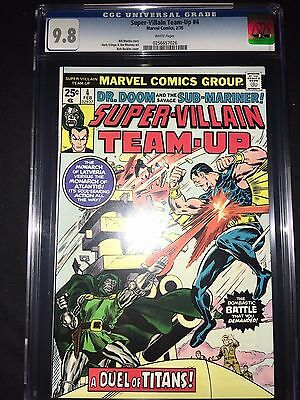 Super Villain Team-Up #4 CGC 9.8 - Dr. Doom & Submariner - 1976