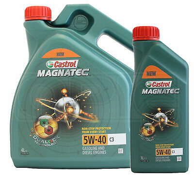 Castrol Magnatec 5W-40 C3 Fully Synthetic Engine Oil 5W40 5 litres (4L + 1L)