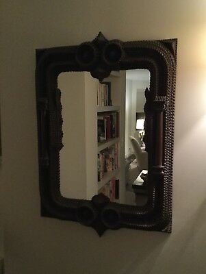 Authentic Large Tramp Art Mirror
