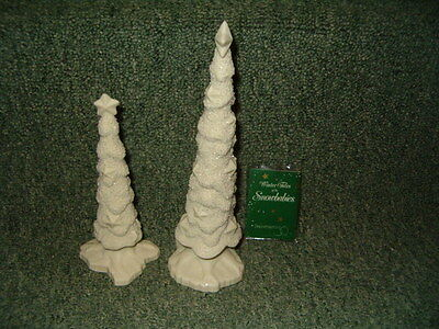Snowbabies Department 56 Starry Pines Tree Set of 2 With Box