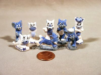 Tom and Jerry Porcealain French Feves Miniatures MINT