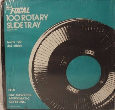 Vintage Focal 100 Rotary Slide Tray - GAF Projector storage NEW IN PACKAGE