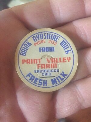 Ayrshire Milk Bottle Cap Bainbridge Ohio NOS