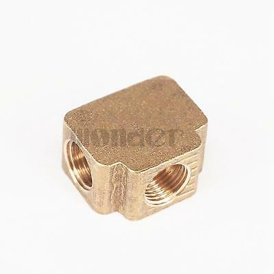 """Tee 3 Ways Brass Pipe fittings Equal Female Connector 1/8"""" BSP"""