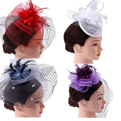 Spring Racing Race Headband Hairband Clip Party Melbourne Cup Feather Fascinator