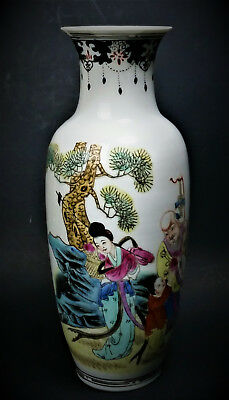 Chinese Eggshell Porcelain Vase Antique Hung Hsien Hand Painted Thin Walled Vase