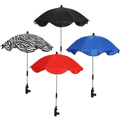 Baby Stroller Parasol Umbrella Kids Pram Shade Adjustable Folding protect