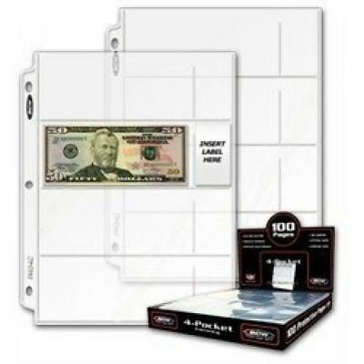 50 Ct. - BCW Pro 4-Pocket Coupon Storage Pages (4 Horizontal Long 2 5/8 X 6...