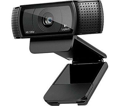 LOGITECH Pro C920 Full HD Webcam 1920 x 1080 Microphone Skype Certified Black