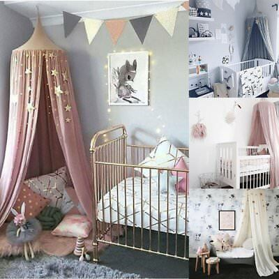 Baby Princess Bed Kids Canopy Bedcover Mosquito Net Curtain Bedding Dome Tent