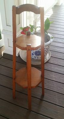 Antique Mission Arts and Crafts Oak Plant Stand, Wine Table 2 tiered Circa 1920