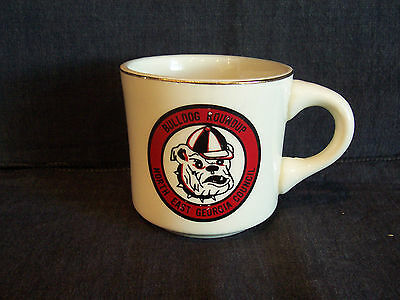 vintage BSA coffee mug cup - Bulldog Roundup, North East Georgia Council