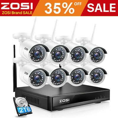 ZOSI Wireless WiFi IP Security Camera 1080P Home HD CCTV System Baby/Pet Monitor