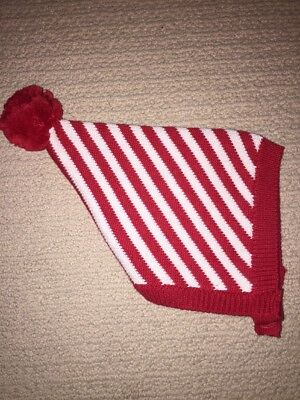 NEW Baby Gap Red Stripe Holiday Hat 0 3 6 Elf Candy Cane 1st Christmas