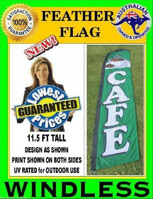 CAFE flag WINDLESS feather flag for bakery coffee food shop Not teardrop