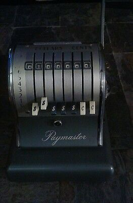 Vintage Paymaster S-600 Series Check Writing Machine  Retro Works With Key
