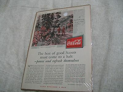 Vintage 1930 Coca Cola Irondale, Mo Boy Scout Camp Advertising