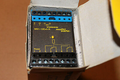 TURCK Multi Safe MS1-12 ExO-R Safety Relay Isolating Switching Amplifier