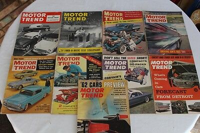 Vintage Motor Trend Magazines   Lot of 9  Good Condition