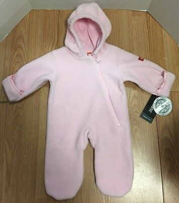 NWT Widgeon Baby-Girl Bunting, Light Pink,6 Months. By Polartec