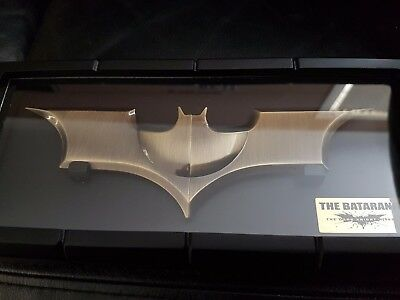 Batman Batarang bronze money clip in case Noble Collection collectable 2013