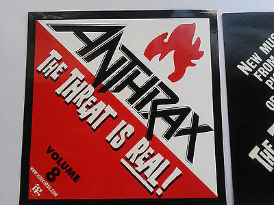 anthrax-rare promo sticker THE THREAT IS REAL vol 8+sound of white noise cd