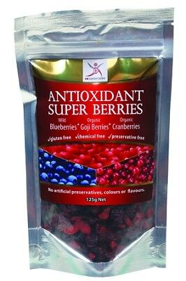 New Dr Superfoods Blueberry, Cranberry & Goji Super Berries 125gr