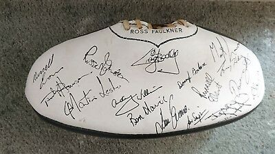 Late 70's Port Adelaide magpies signed football