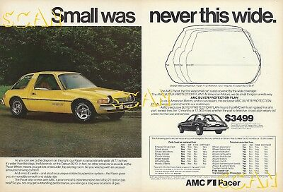 1976 American Motors Ad AMC Pacer X Vintage Magazine Advertisement 76