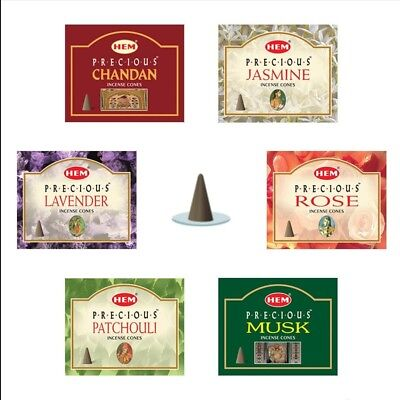 Hem Incense Cones - 2 Boxes Of 10 Cones (20 TOTAL) - Imported - Highly Fragrant!