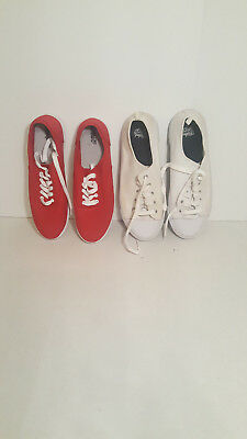 Lot of 2 Vans Canvas Skate Womens shoes display Models size 11