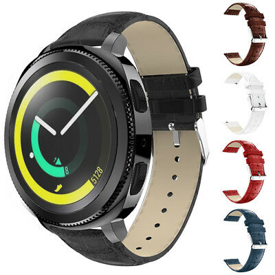 Replacement Genuine Leather Watch Band Wrist Strap for Samsung Gear S3 Sport