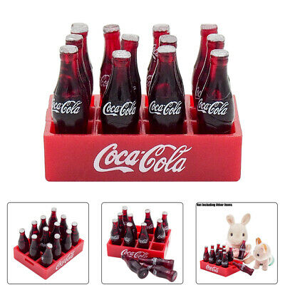 1:12 Coca Cola Coke 12 Bottle in Tray Miniature Dollhouse Dink Figure Decor Gift