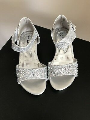 Toddler Size 6 Silver Heels, Formal, Pageant, Wedding