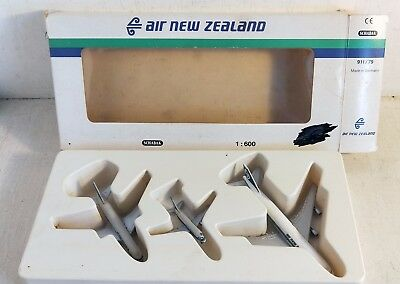 3 Air New Zealand Model Aircraft Planes, 1:1600, Schabak Germany, 911/79 (6534)