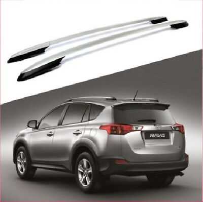 For 13-17 Toyota RAV4 Silver Roof Rack Side Rails Luggage Carrier Bar OE Style